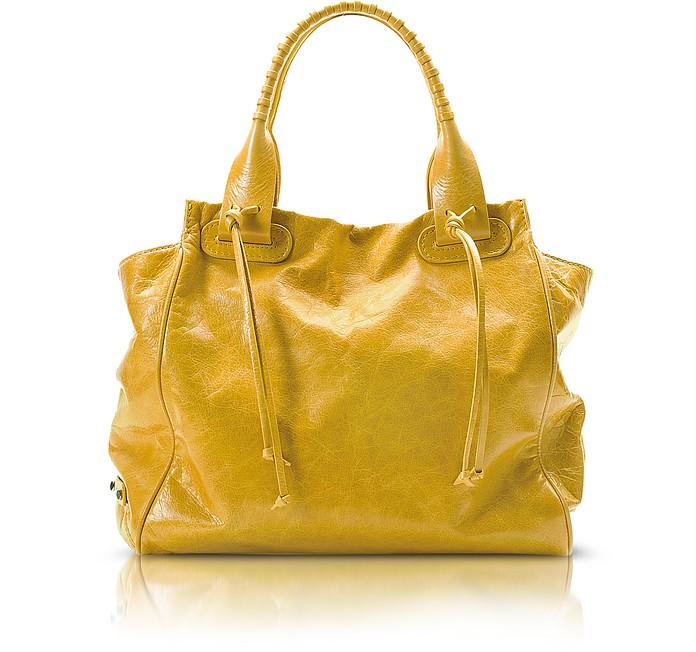 Demetra - Leather Tote Bag - Francesco Biasia
