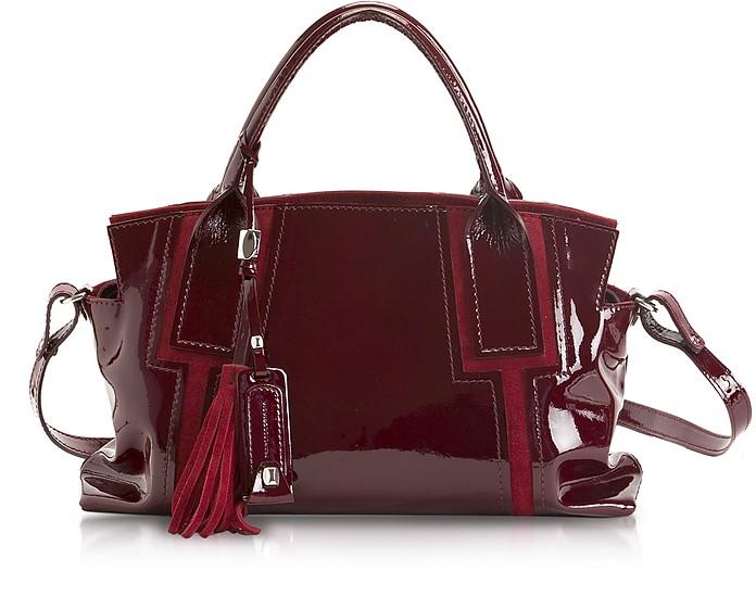Valeria - Medium Patent Leather Tote - Francesco Biasia