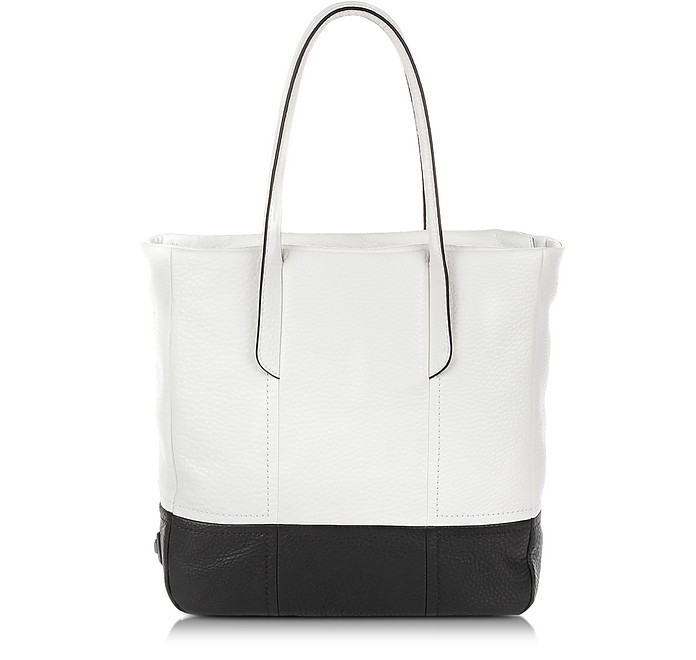 Ari - Color Block Large Leather Tote Bag - Francesco Biasia