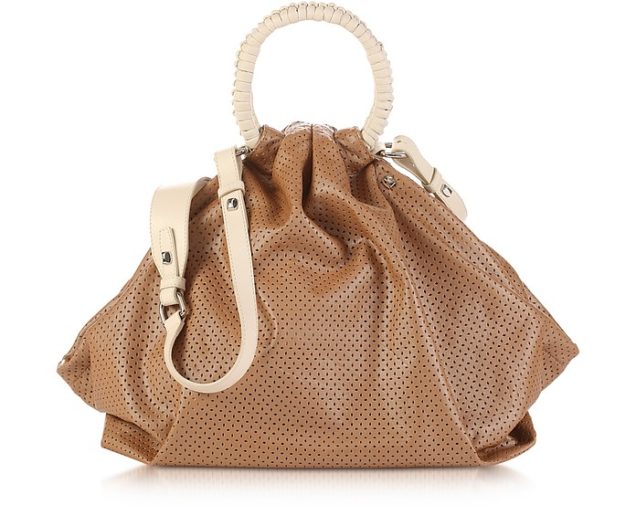 Miramar - Perforated Leather Satchel - Francesco Biasia