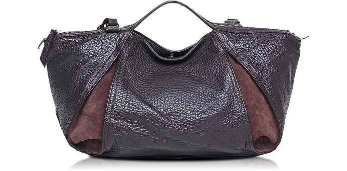 Copacabana Grainy Leather and Nabuk Tote w/Shoulder Strap - Francesco Biasia