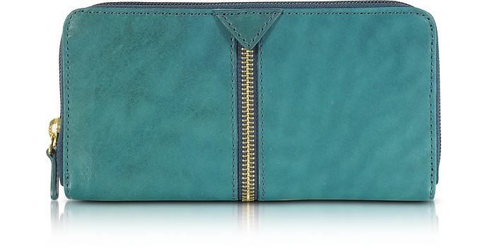 Harlem Leather Zip Around Wallet - Francesco Biasia