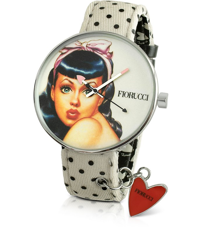 Pin Up - Rear Window Polkadot Strap Watch - Fiorucci