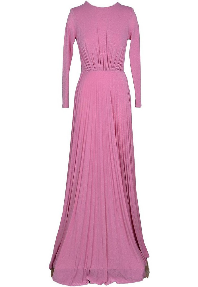 Red Carpet - Pink Pleated Viscose Long Dress - Elisabetta Franchi