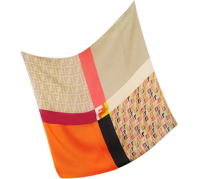 Technicolor Satin Silk Square Scarf - Fendi
