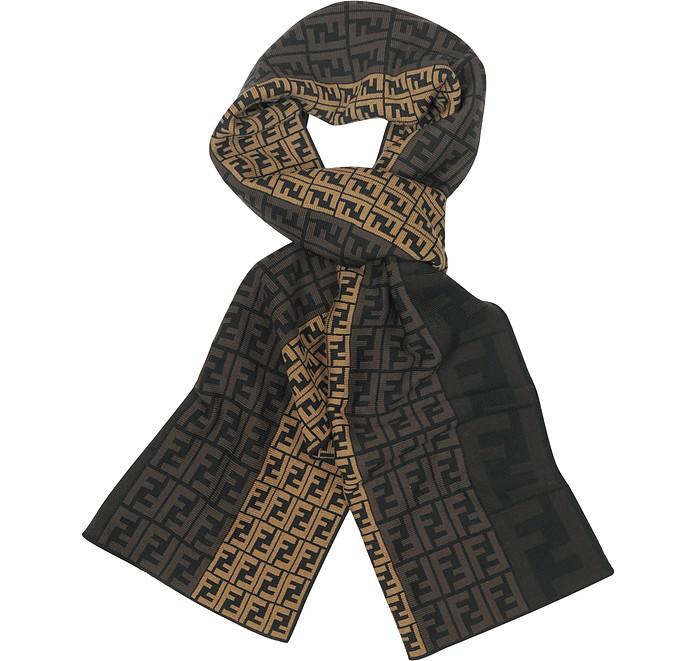 8f076a347b5 ... discount zucca logo wool scarf fendi 66708 8c731