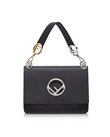 Kan I M Black Leather Top Handle Satchel Bag - Fendi