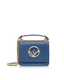Kan I F Small Blue leather Shoulder Bag - Fendi
