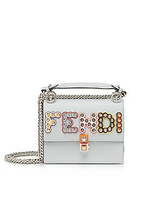 Pearl Gray MCL Kan I Small Shoulder Bag - Fendi