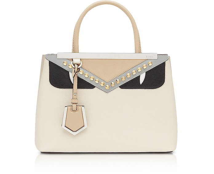 783e48501cee Fendi Camelia and Black Petite 2 Jours Monster Satchel Bag at ...