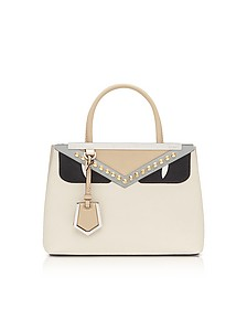 Camelia and Black Petite 2 Jours Monster Satchel Bag - Fendi