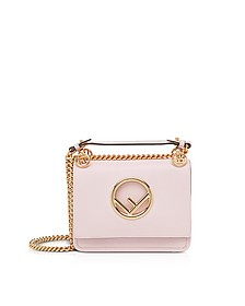 Kan I F Small Peonia Pink Leather Shoulder Bag - Fendi