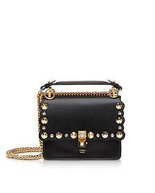 Kan I Black Leather Shoulder Bag - Fendi