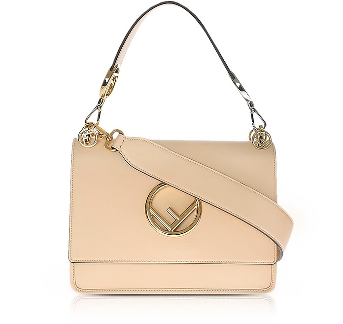 Kan I M Plaster Leather Top Handle Satchel Bag - Fendi