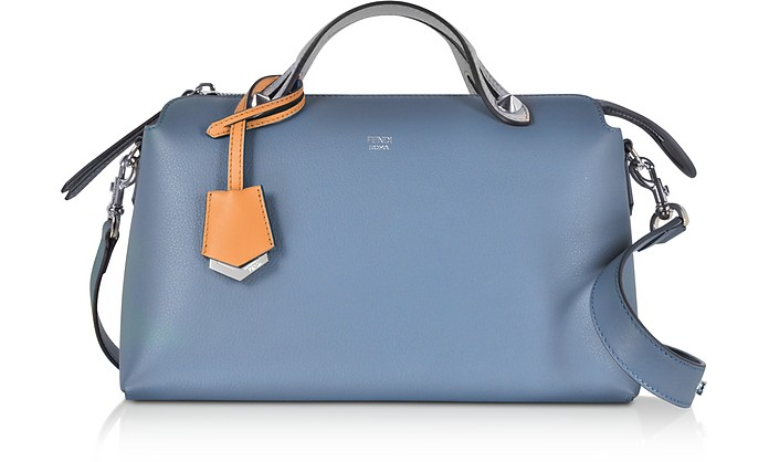 By The Way Regular Cerulean Blue Leather Small Satchel Bag - Fendi