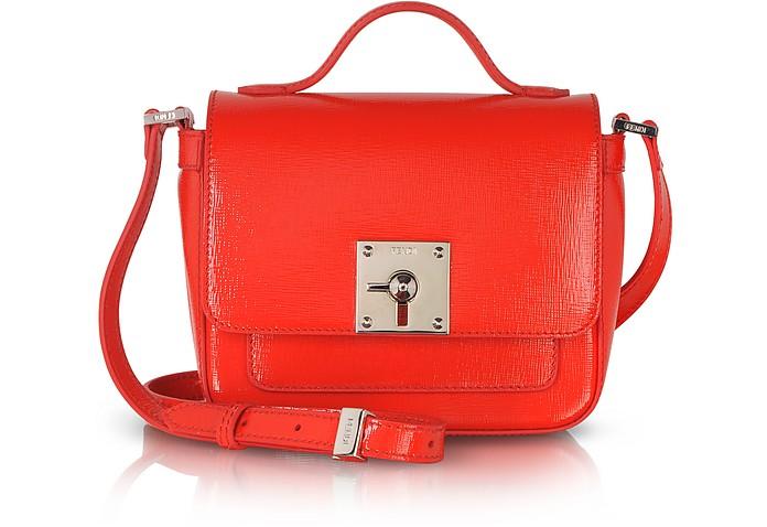 f904c0d076df Fendi Bag Bugs Poppy Patent Leather Shoulder Bag at FORZIERI