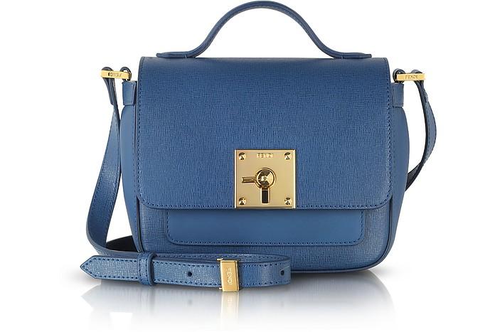 Bag Bugs Blue Leather Shoulder Bag - Fendi