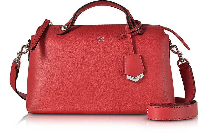 dd5dde58a9 By The Way Small Red Leather Boston Bag