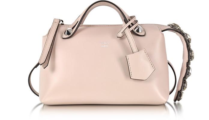 Soft Pastel Pink Leather Mini By The Way Boston Bag w/Smoky Quartz Crystals - Fendi