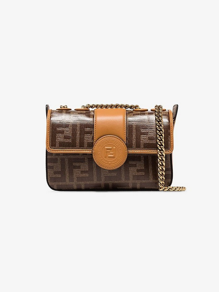 Brown FF logo mini bag - Fendi