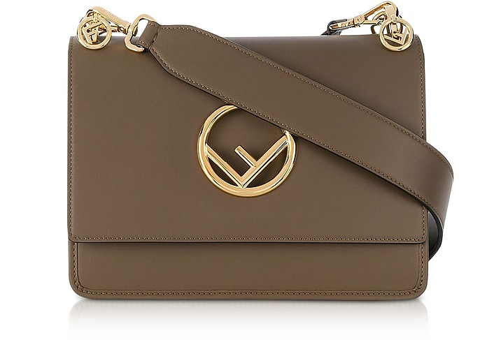 Kan I Logo Regular Maya Leather Shoulder bag - Fendi