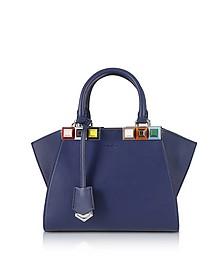 Blueberry Mini 3 Jours Studded Tote Bag - Fendi