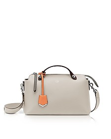 By The Way Regular Dust Gray Leather Satchel Bag - Fendi