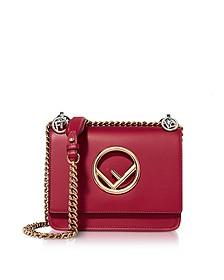 Kan I F Small Red Leather Shoulder Bag - Fendi