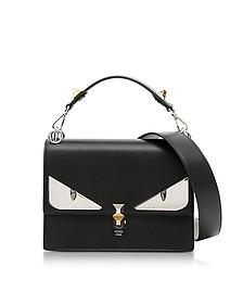 Kan I Black Leather Crossbody Bag w/Studs  - Fendi
