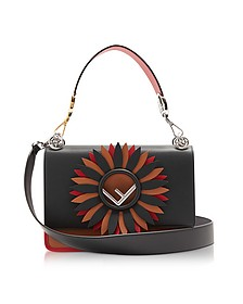 Kan I Logo Color Block Leather Shoulder Bag - Fendi