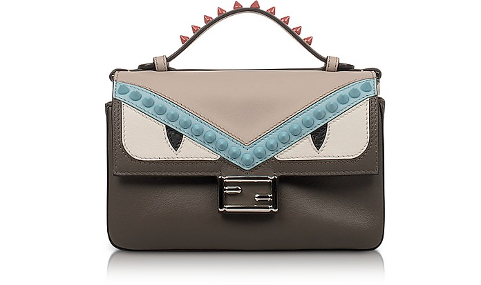 40a2827c1d1b Double Micro Baguette Coal and Bloody Mary Leather Crossbody Bag - Fendi