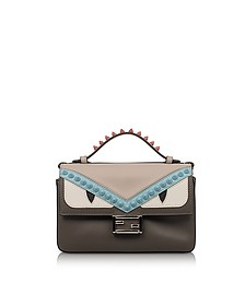 Double Micro Baguette Coal and Bloody Mary Leather Crossbody Bag - Fendi