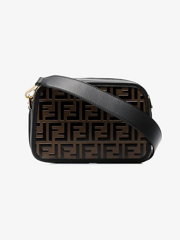 Black and brown Camera Case leather cross body bag - Fendi
