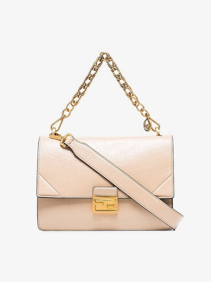 Fendi Accessories Nude Kan I leather chain strap bag