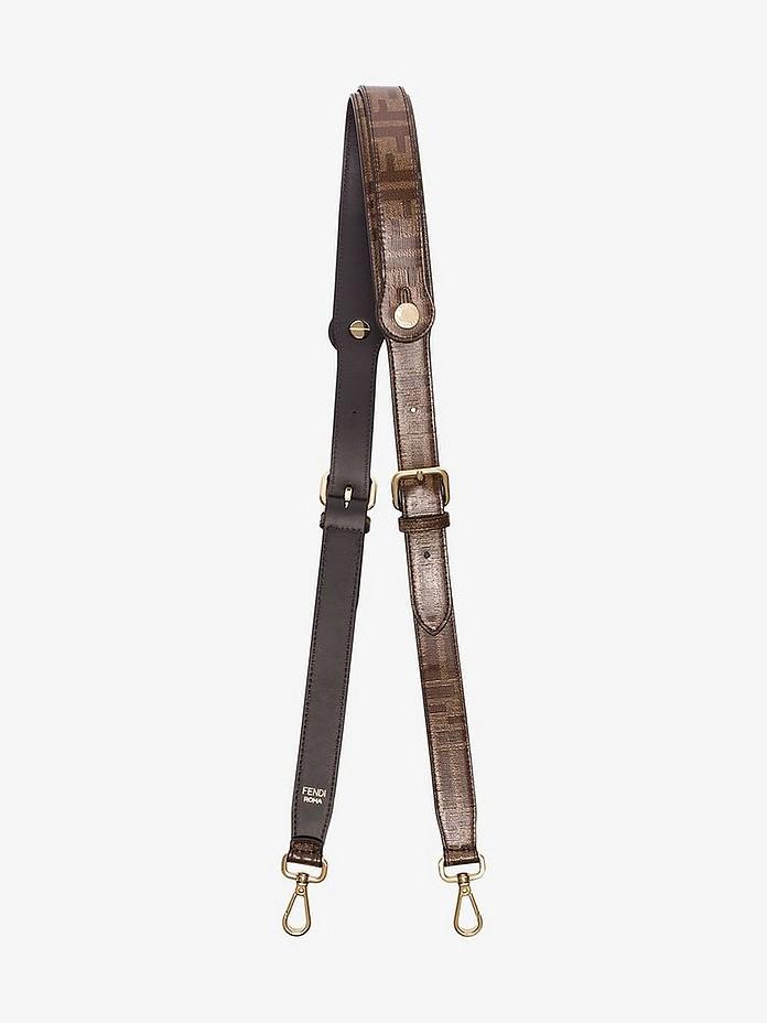 Fendi Shoulder Brown strap you FF logo shoulder strap