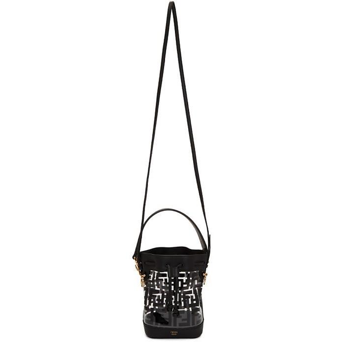 Transparent and Black PU Mini Mon Tresor Bag - Fendi