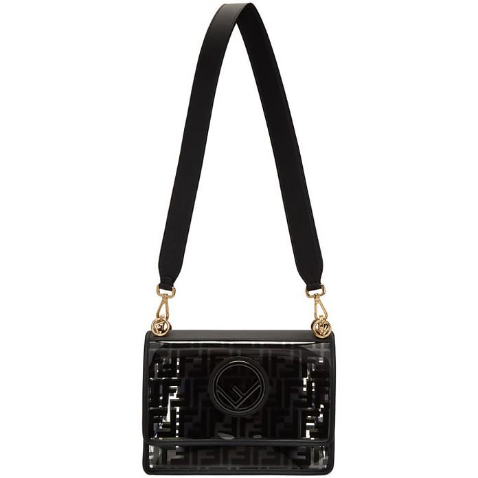 Transparent and Black Forever Fendi Kan I F Bag - Fendi