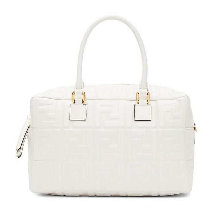 White Small Forever Fendi Boston Bag - Fendi