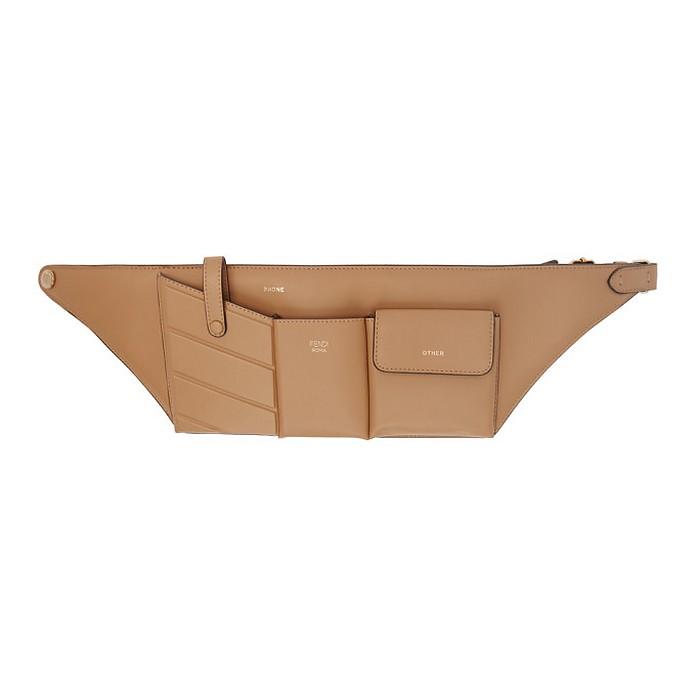 Beige Pockets Belt Bag - Fendi