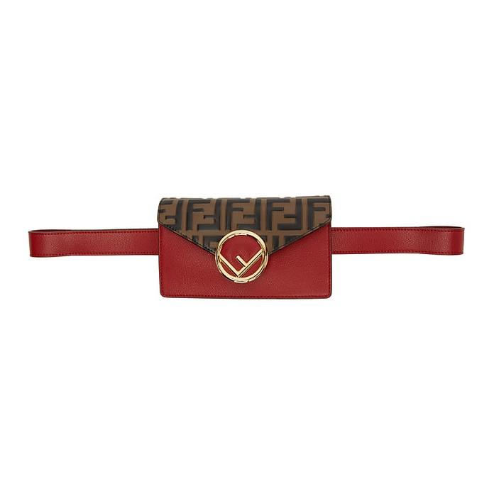 Red and Brown Forever Fendi Belt Bag - Fendi