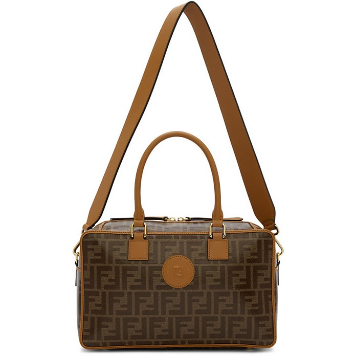 Brown Small Forever Fendi Boston Bag - Fendi