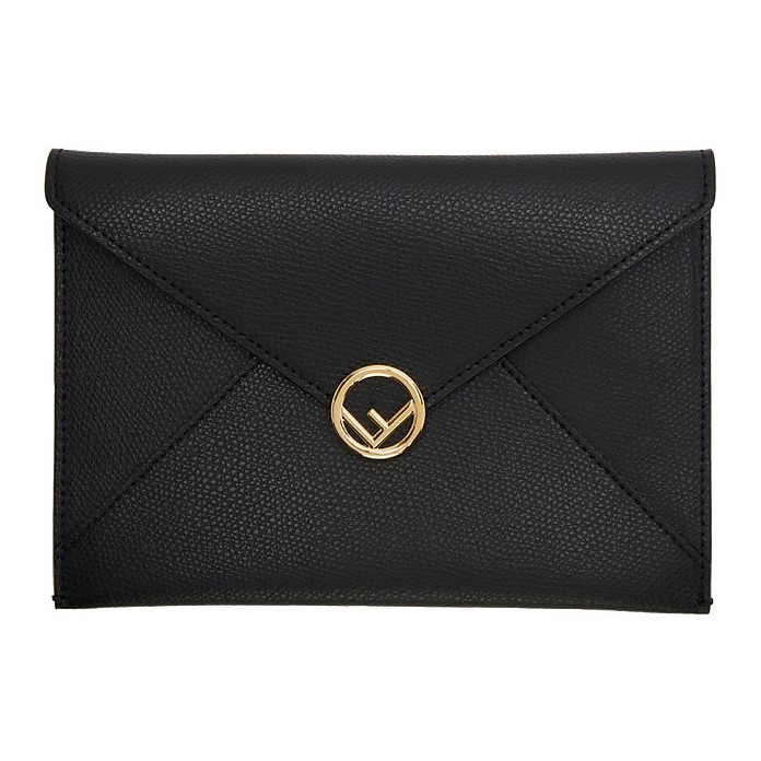 Black Medium F is Fendi Envelope Pouch - Fendi / フェンディ