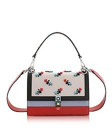 Kan I Medium Embroidered Leather Satchel Bag - Fendi