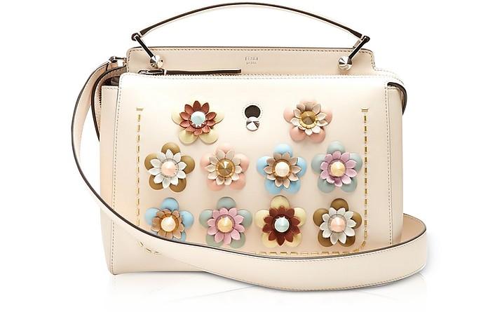 d51559b8c4 Fendi Dotcom Click Blush Pink Leather Satchel Bag w Flowers at FORZIERI