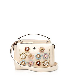 Dotcom Click Blush Pink Leather Satchel Bag w/Flowers - Fendi