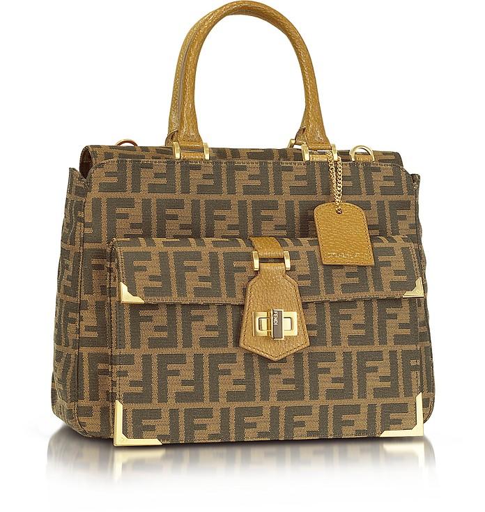 Classico No. 3  Zucca Print Handbag - Fendi