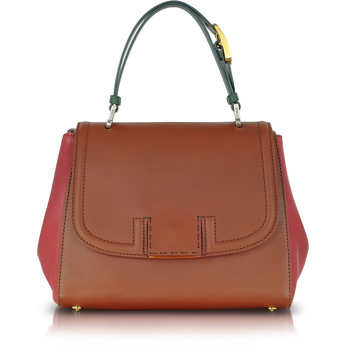 Colorblock Silvana Leather Satchel - Fendi