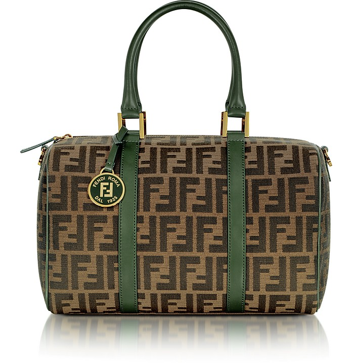 Small Chef Zucca Jacquard Boston Bag - Fendi