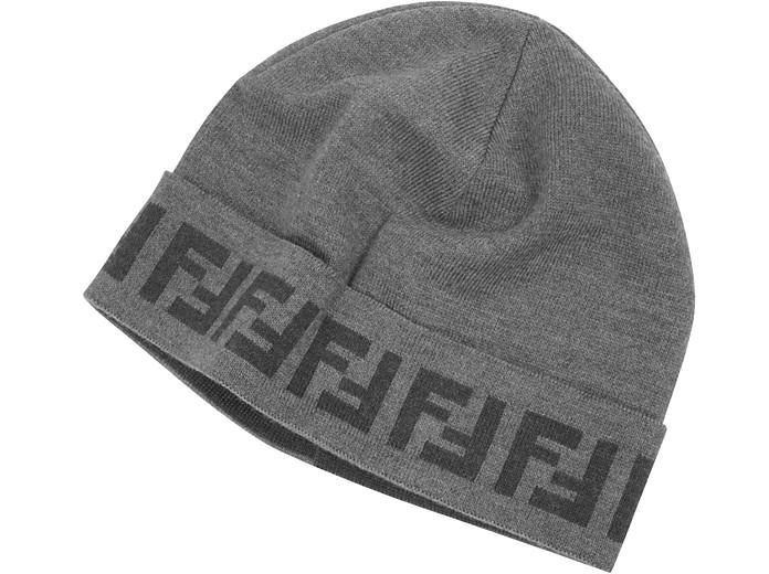 Cappello in Lana con Logo Zucca Fendi su FORZIERI aa3ca1da569f