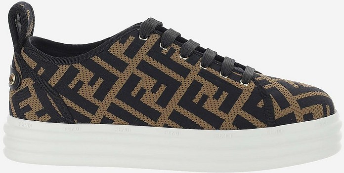 Allover Signature Print Women's Low top Sneakers - Fendi